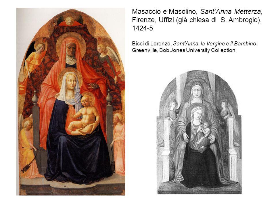 Masaccio e Masolino, Sant'Anna Metterza, Firenze, Uffizi (già chiesa di S. Ambrogio), 1424-5