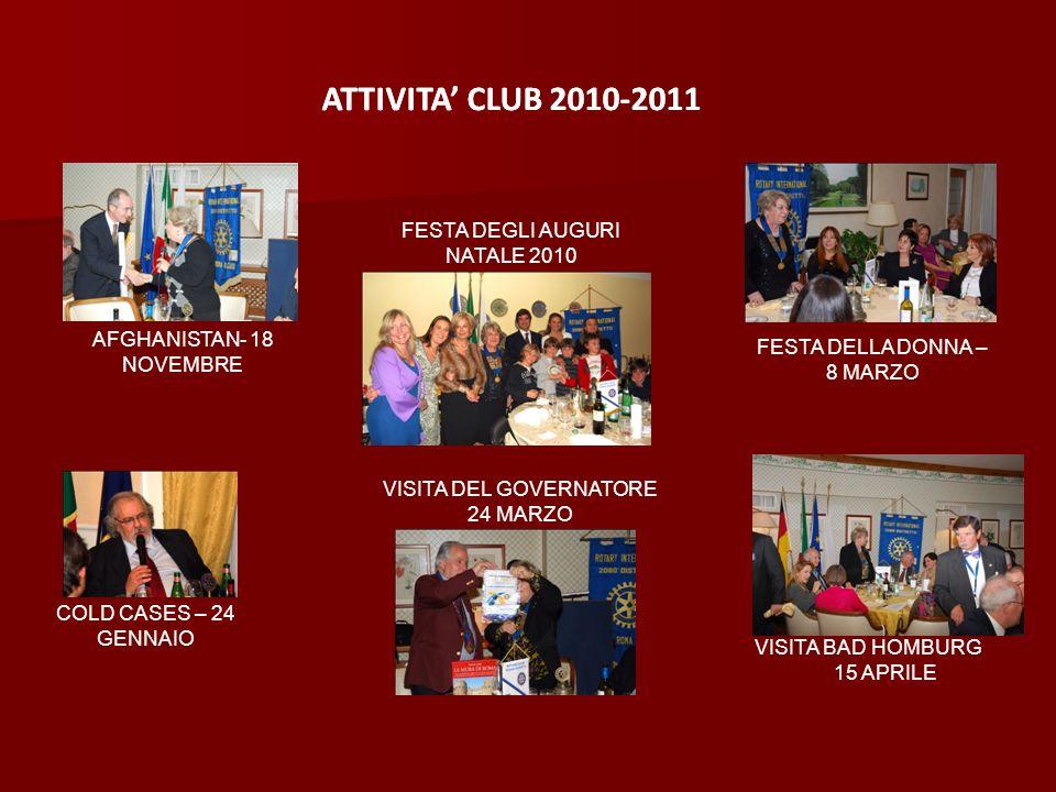 ATTIVITA' CLUB 2010-2011 ATTIVITA' CLUB 2010-2011