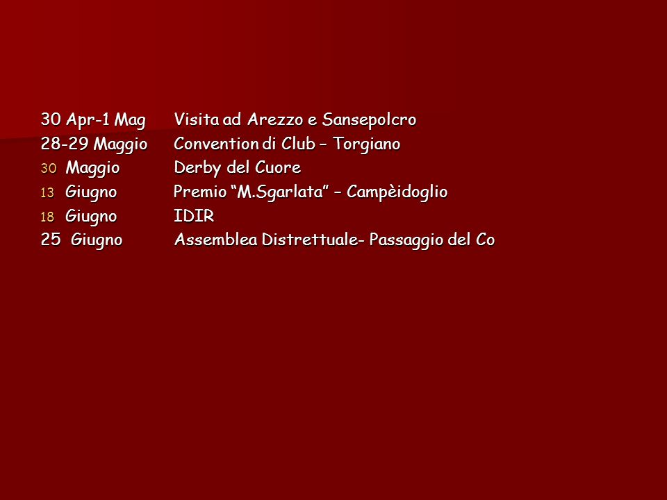 30 Apr-1 Mag Visita ad Arezzo e Sansepolcro