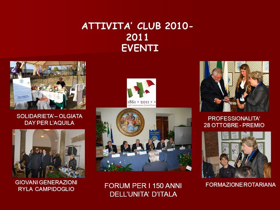 ATTIVITA' CLUB 2010-2011 EVENTI