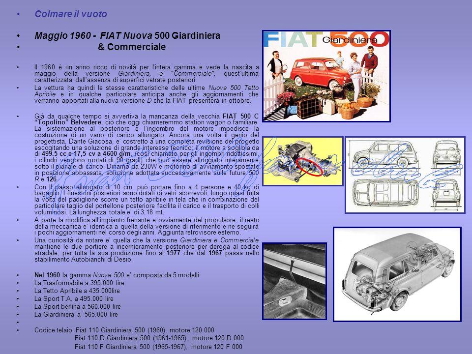 Fiat 500 fans club Colmare il vuoto