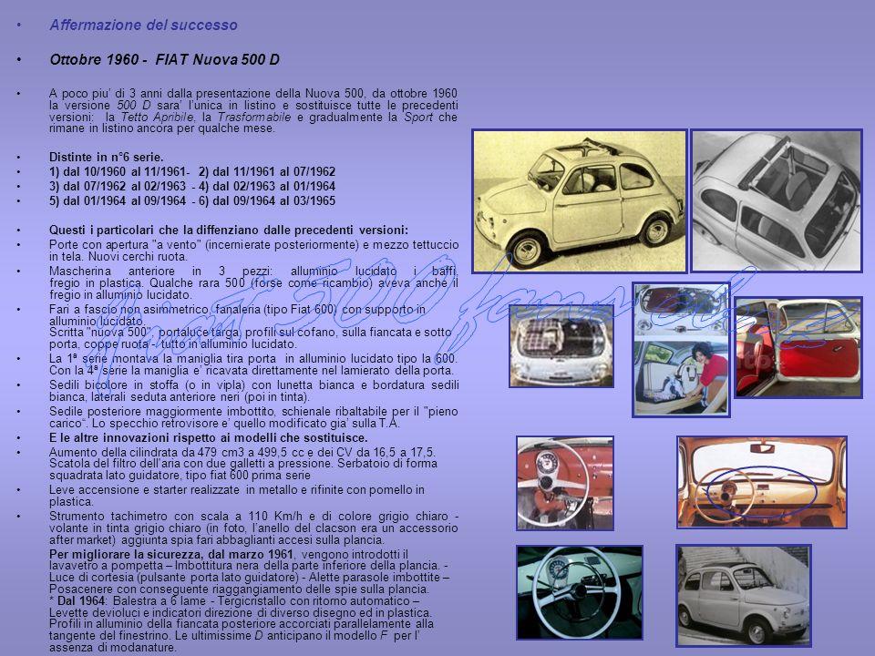 Fiat 500 fans club Affermazione del successo