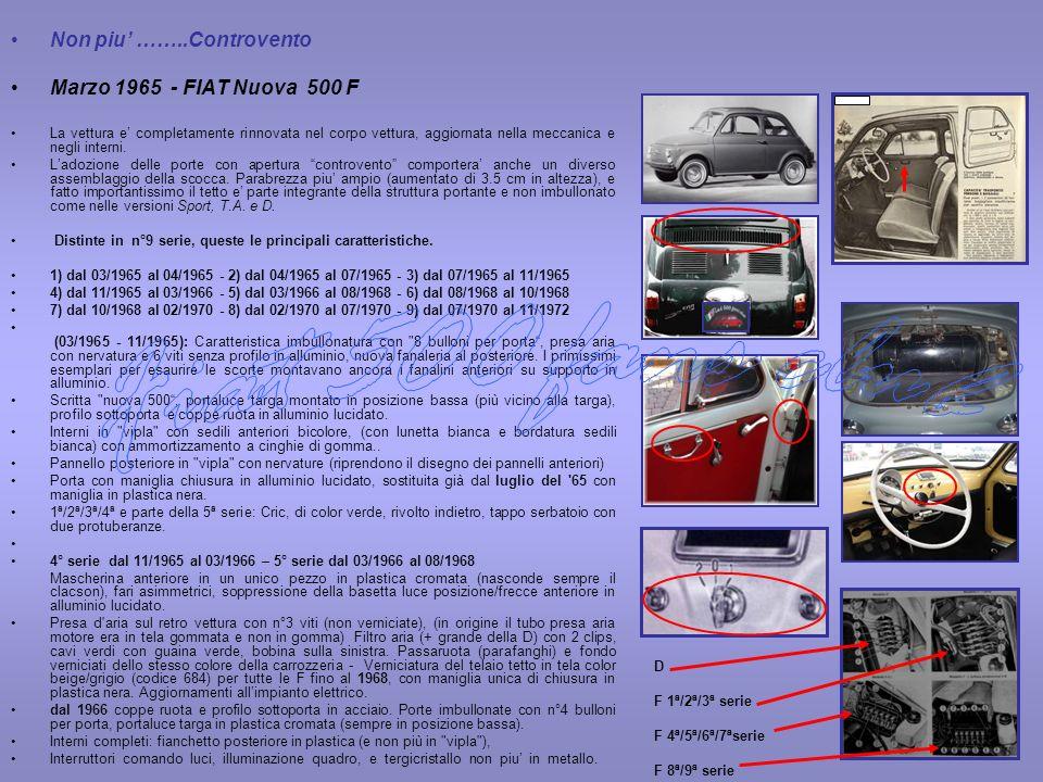 Fiat 500 fans club Non piu' ……..Controvento