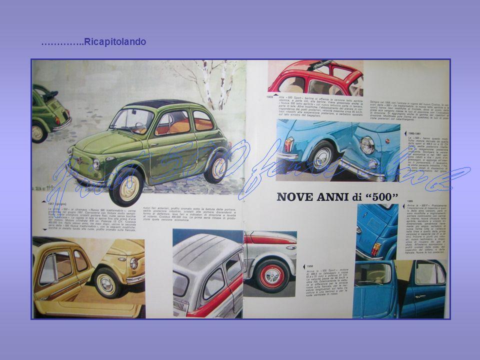…………..Ricapitolando Fiat 500 fans club