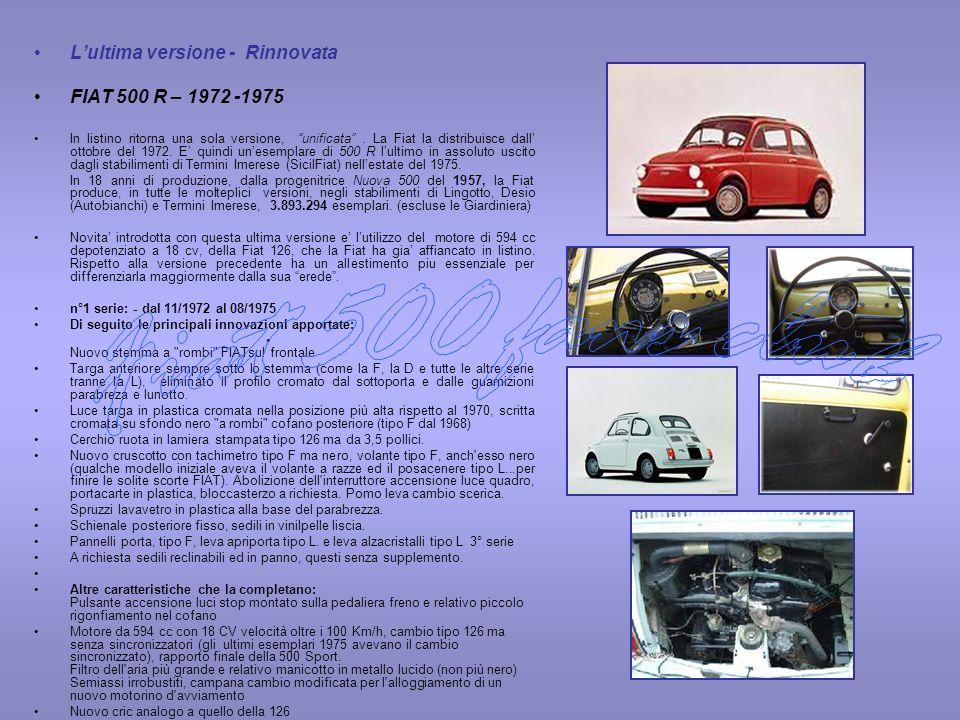 Fiat 500 fans club L'ultima versione - Rinnovata
