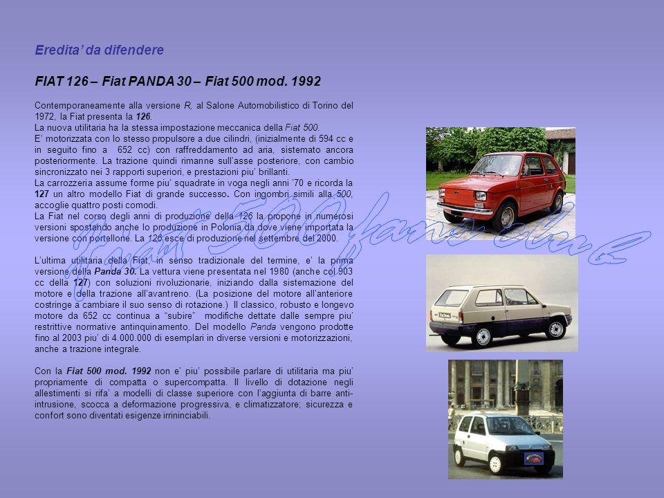 Fiat 500 fans club Eredita' da difendere