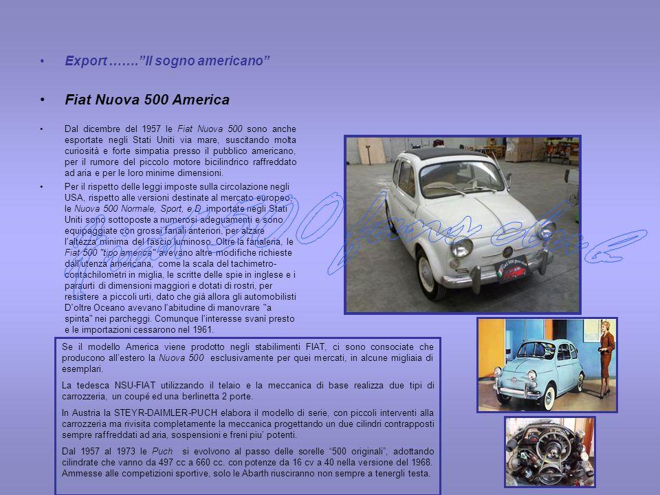 Fiat 500 fans club Fiat Nuova 500 America