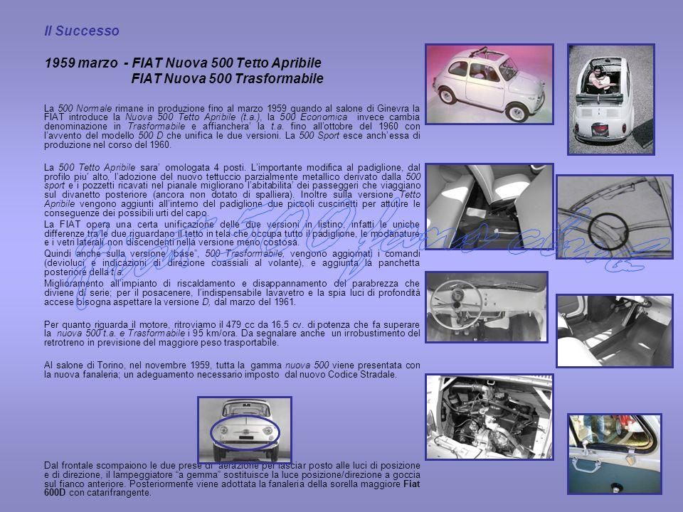 Fiat 500 fans club 1959 marzo - FIAT Nuova 500 Tetto Apribile