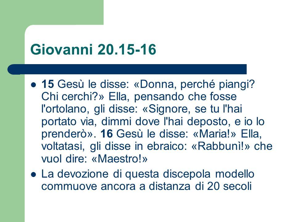 Giovanni 20.15-16