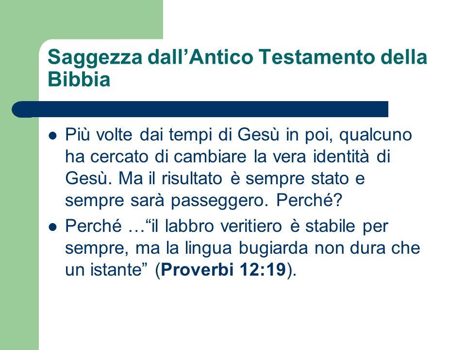 Saggezza dall'Antico Testamento della Bibbia