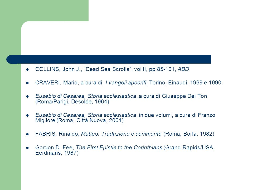 COLLINS, John J., Dead Sea Scrolls , vol II, pp 85-101, ABD