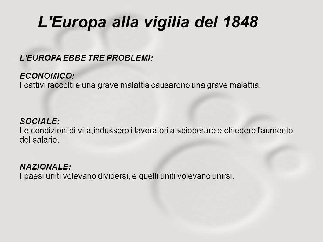 L Europa alla vigilia del 1848