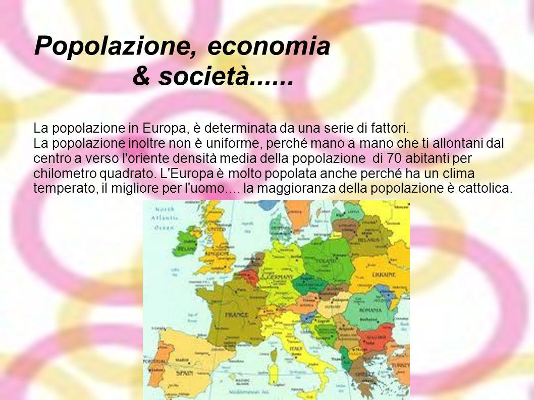 Popolazione, economia & società......