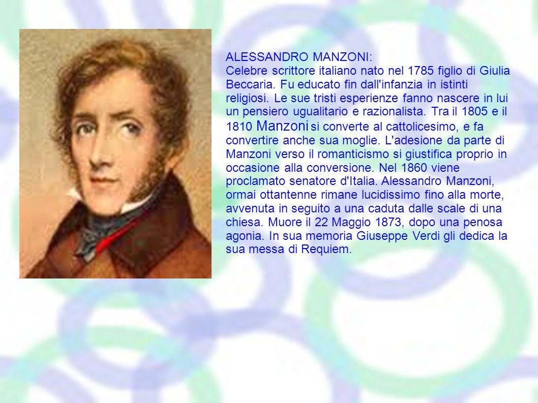 ALESSANDRO MANZONI: