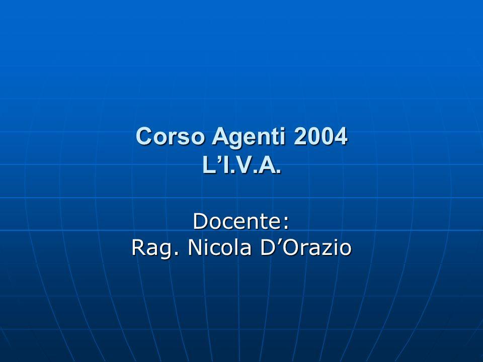 Docente: Rag. Nicola D'Orazio
