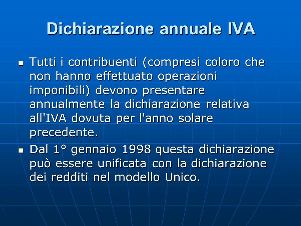 Dichiarazione annuale IVA