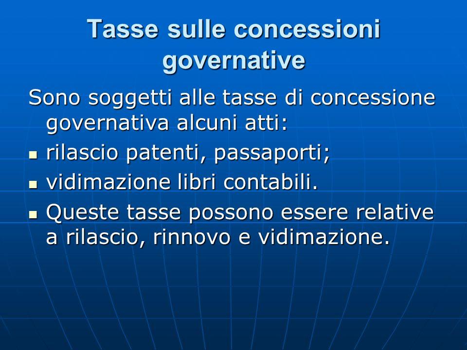 Tasse sulle concessioni governative