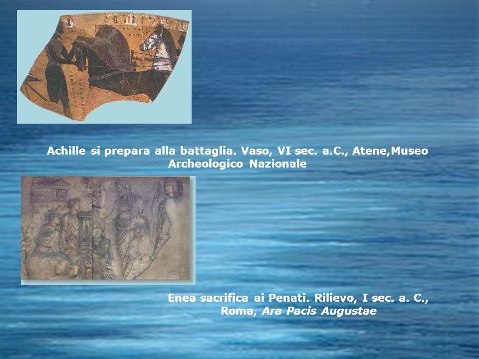 Achille si prepara alla battaglia. Vaso, VI sec. a. C