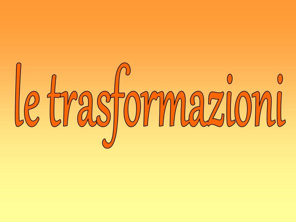le trasformazioni