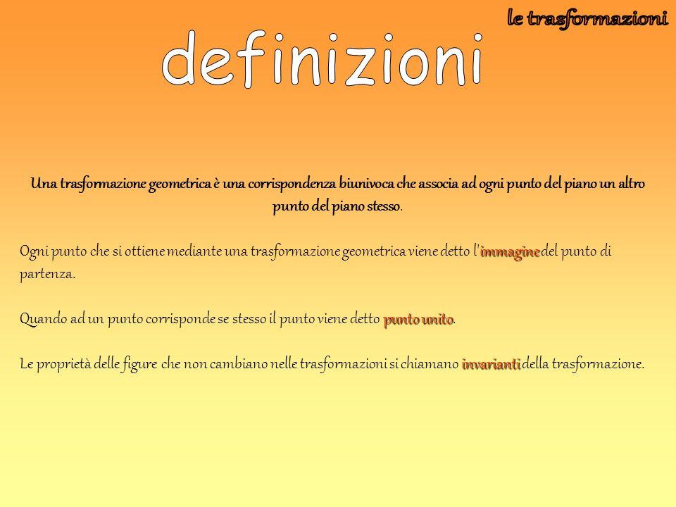 le trasformazioni definizioni