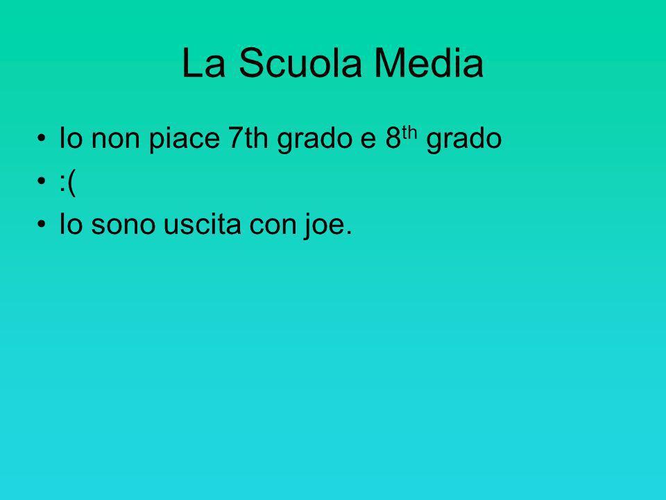 La Scuola Media Io non piace 7th grado e 8th grado :(