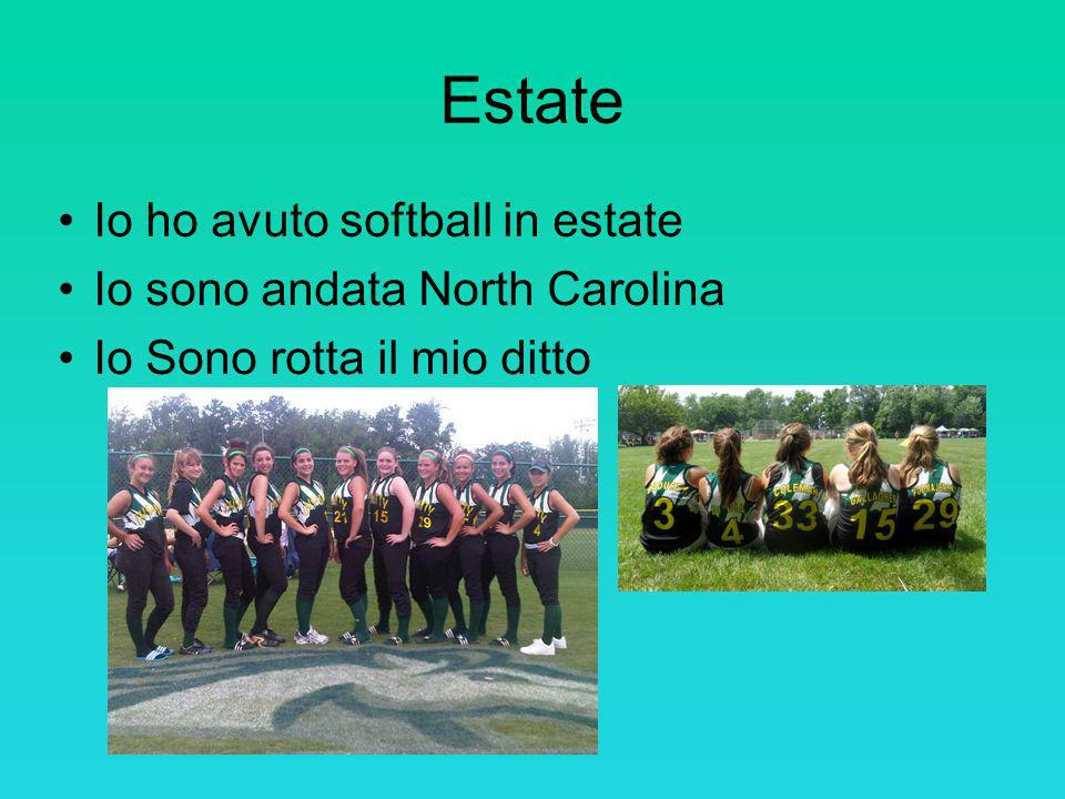 Estate Io ho avuto softball in estate Io sono andata North Carolina