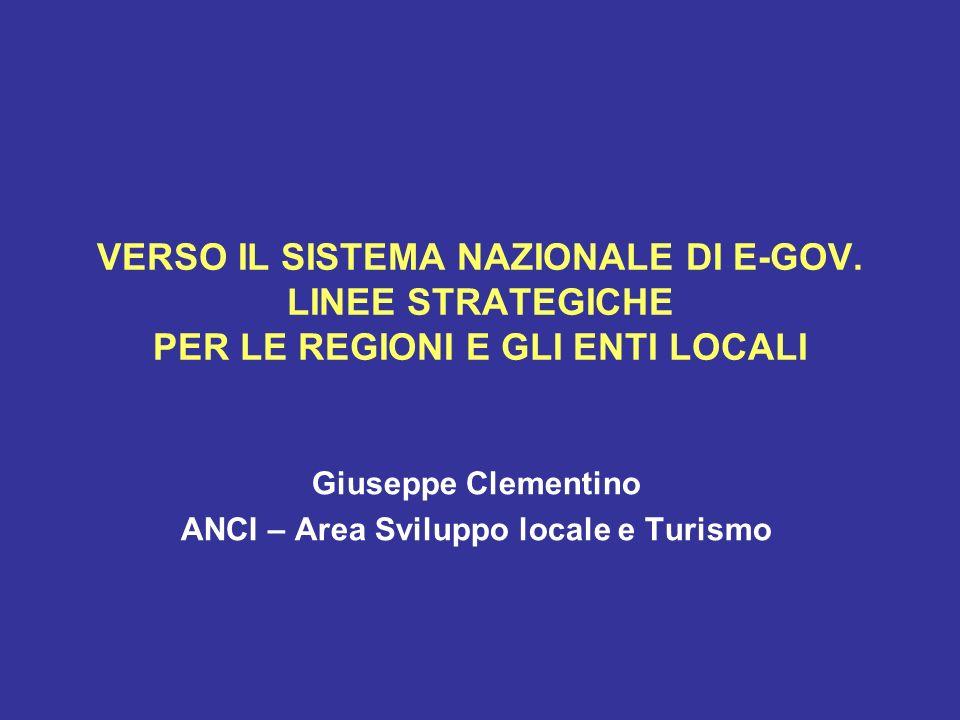 Giuseppe Clementino ANCI – Area Sviluppo locale e Turismo