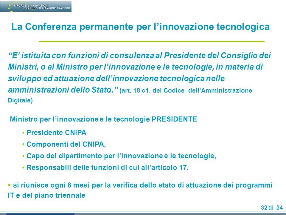 La Conferenza permanente per l'innovazione tecnologica