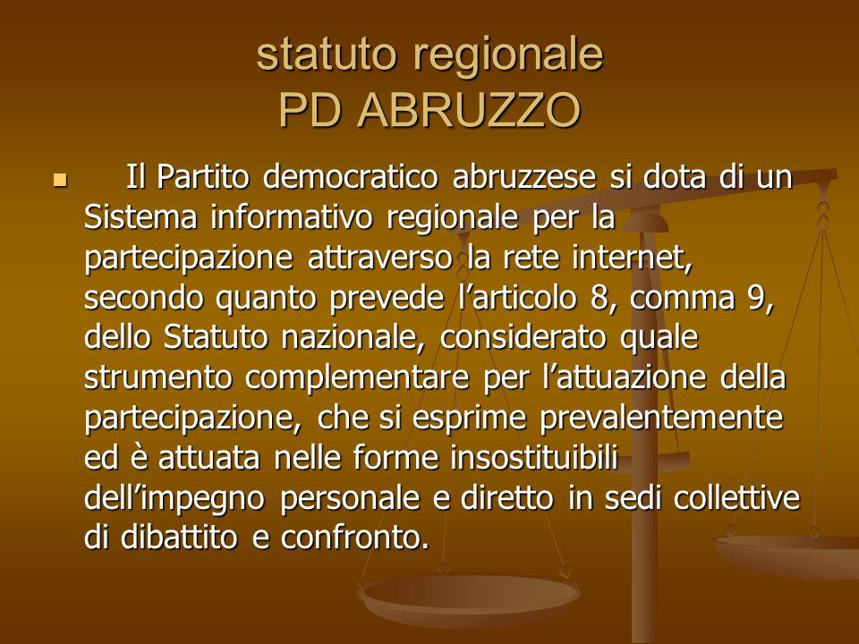 statuto regionale PD ABRUZZO