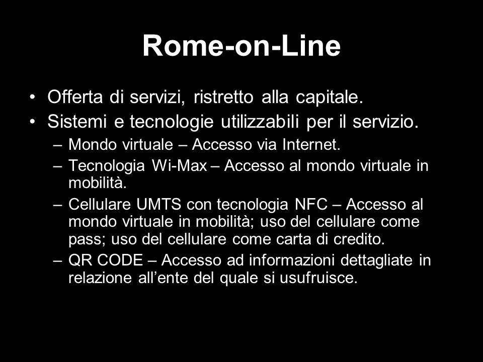 Rome-on-Line Offerta di servizi, ristretto alla capitale.