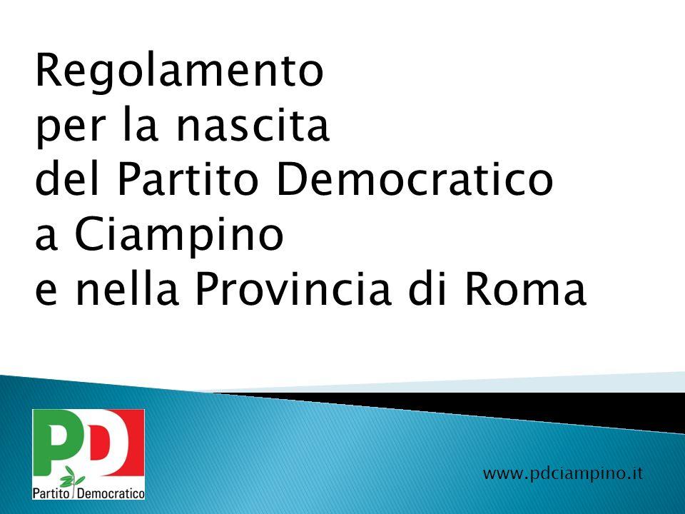 del Partito Democratico a Ciampino e nella Provincia di Roma