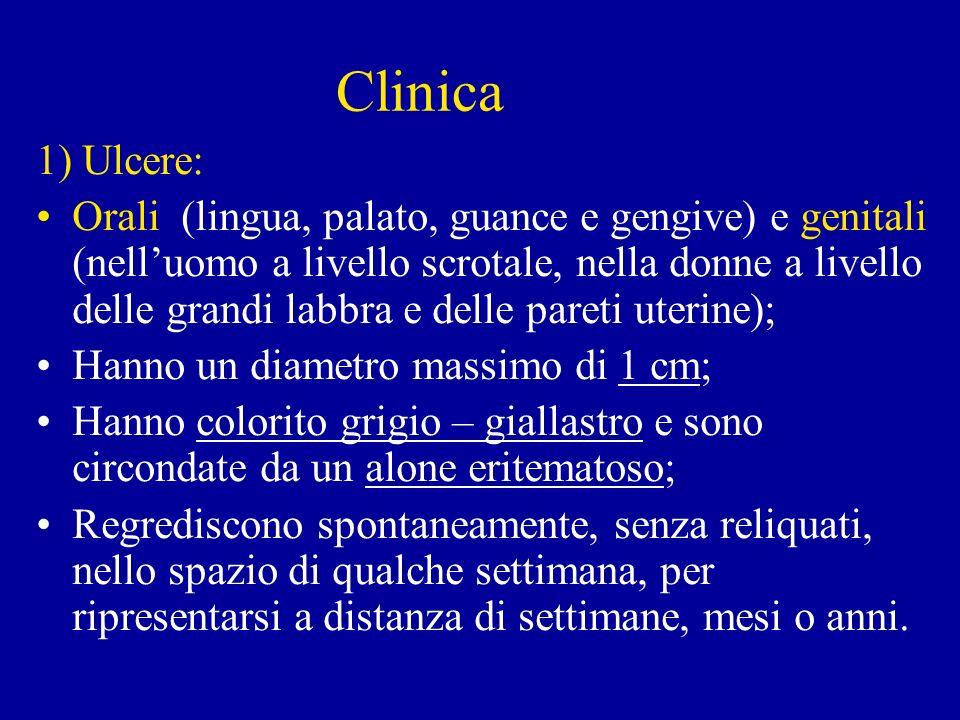 Clinica 1) Ulcere: