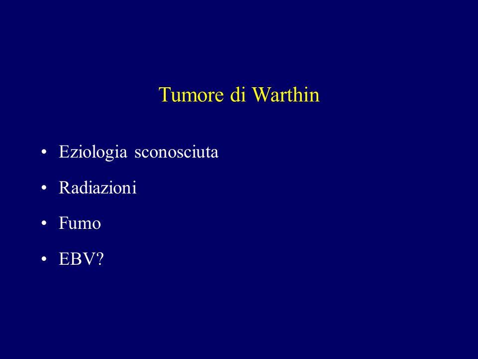 Tumore di Warthin Eziologia sconosciuta Radiazioni Fumo EBV
