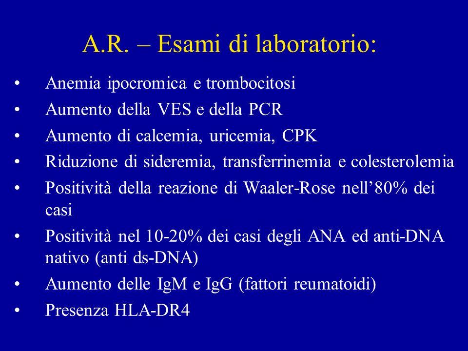 A.R. – Esami di laboratorio:
