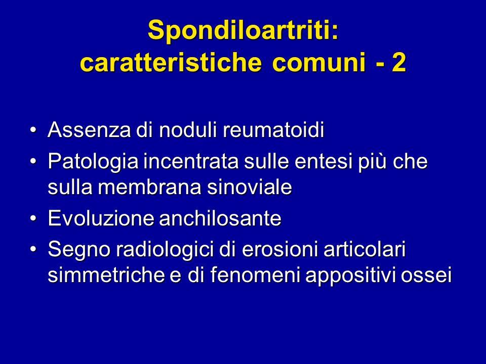 Spondiloartriti: caratteristiche comuni - 2