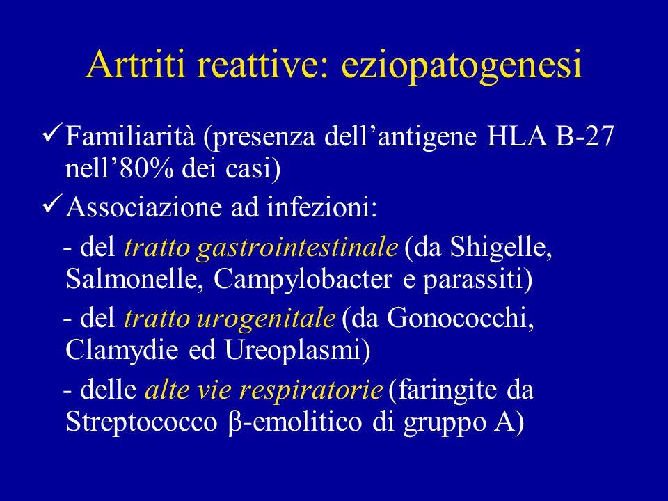 Artriti reattive: eziopatogenesi
