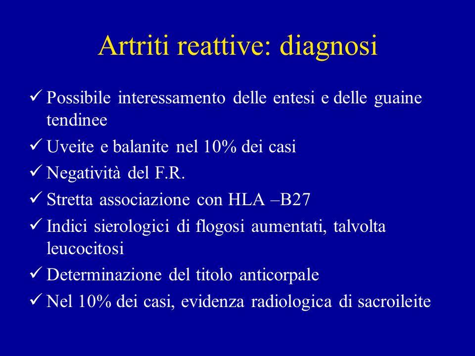Artriti reattive: diagnosi