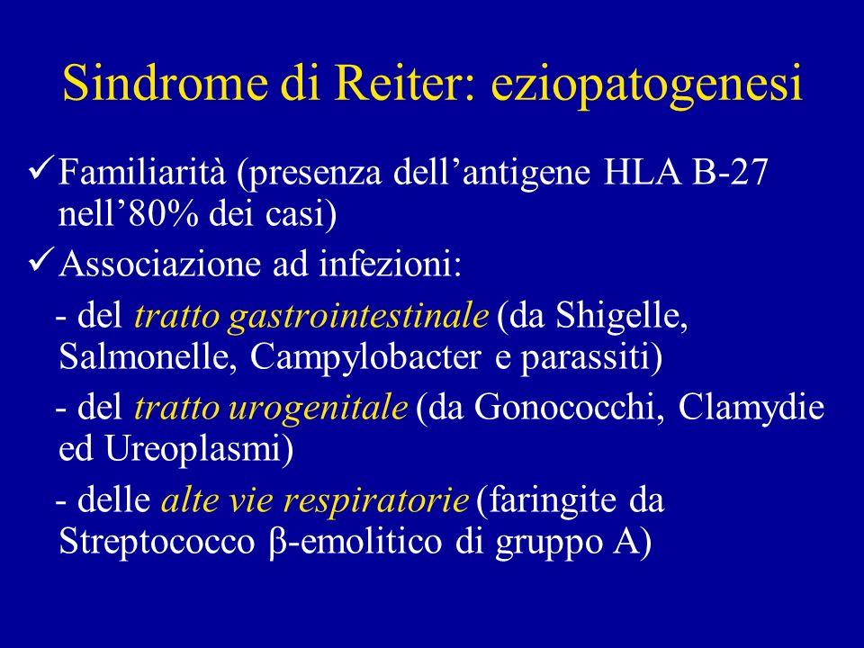 Sindrome di Reiter: eziopatogenesi