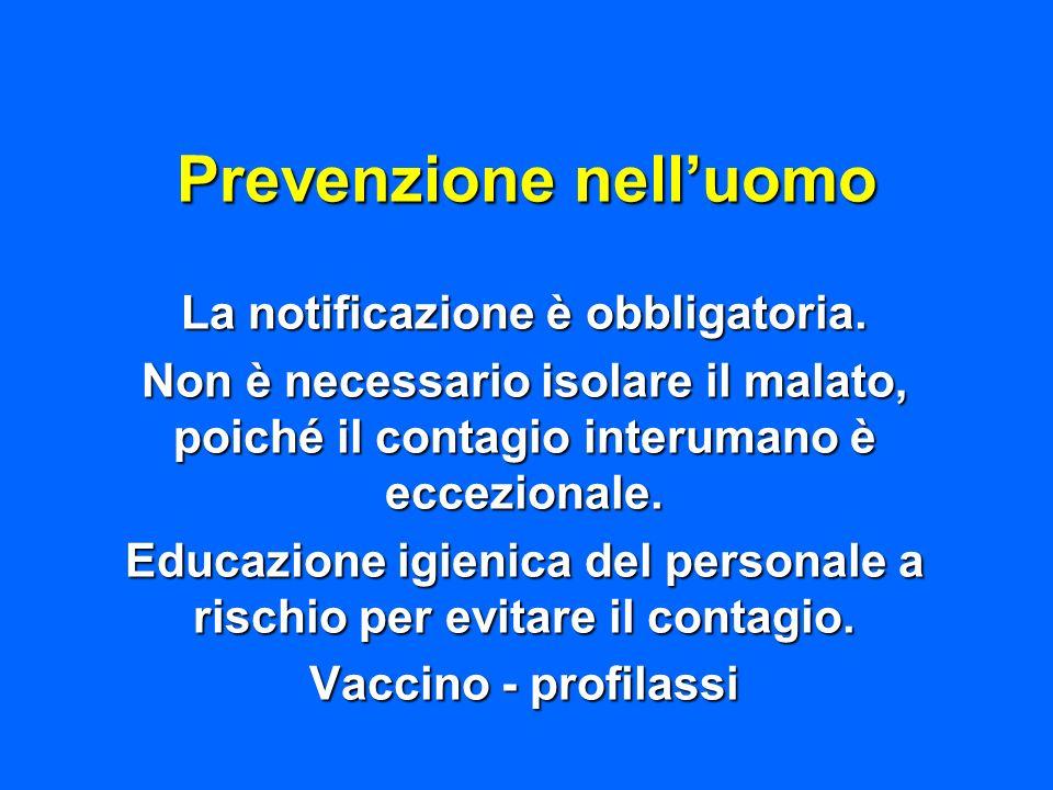 Prevenzione nell'uomo