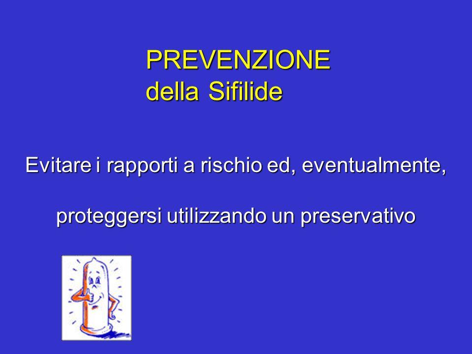 PREVENZIONEdella Sifilide