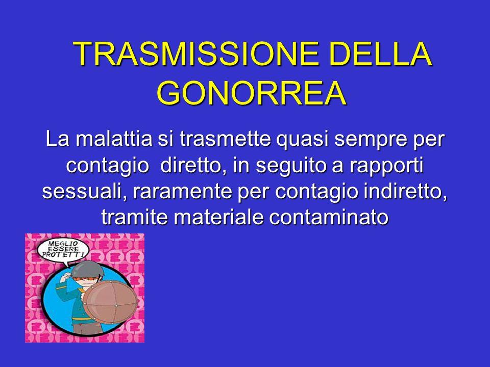 TRASMISSIONE DELLA GONORREA