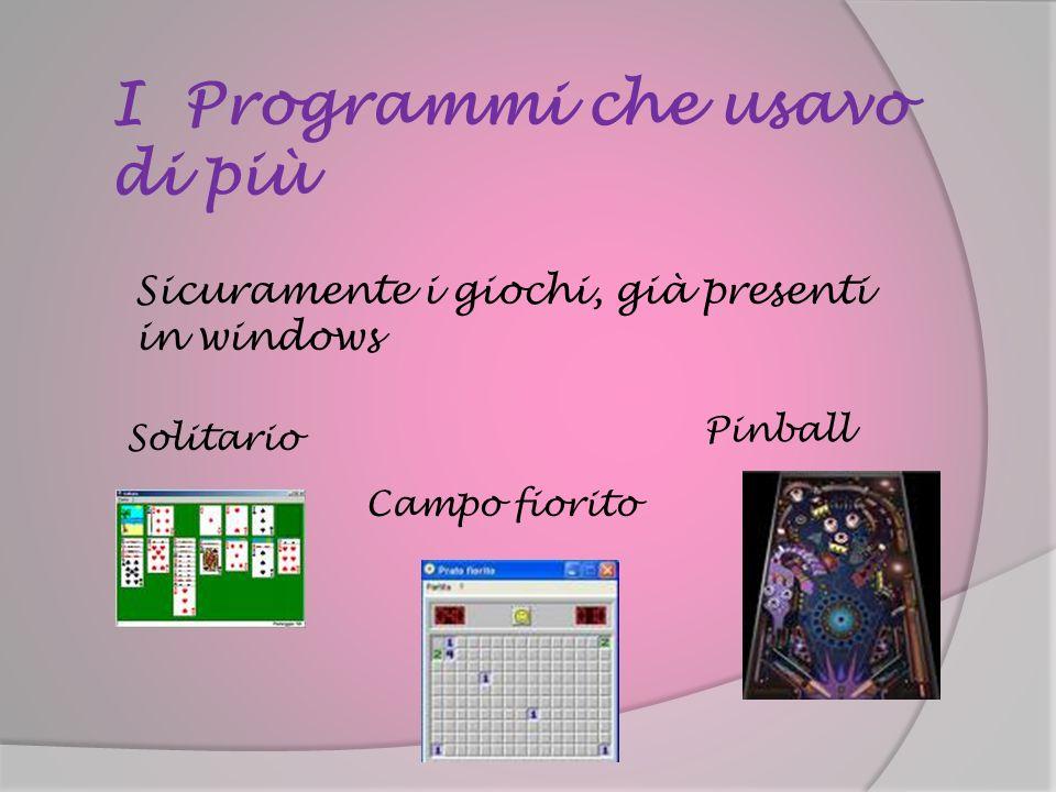 I Programmi che usavo di più
