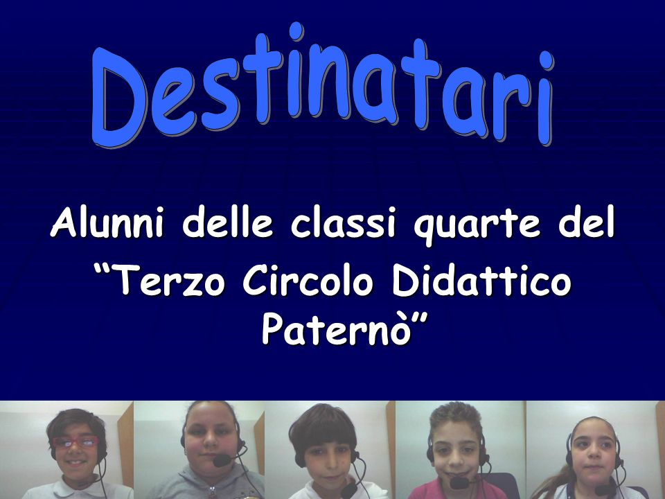 Alunni delle classi quarte del Terzo Circolo Didattico Paternò