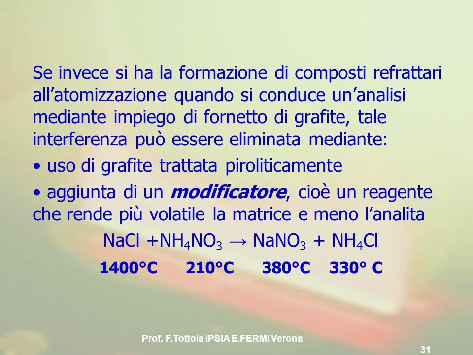 Prof. F.Tottola IPSIA E.FERMI Verona 31