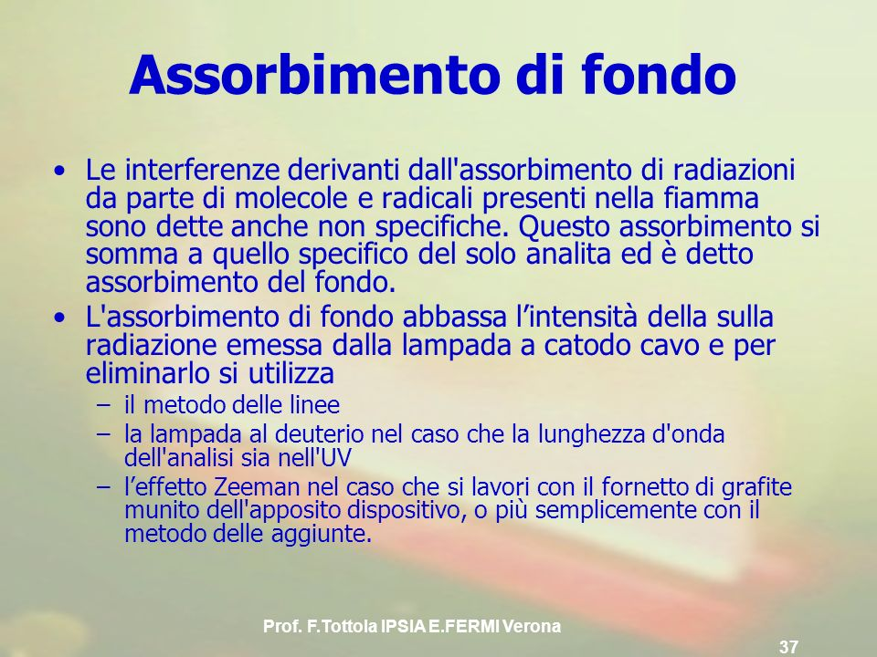 Prof. F.Tottola IPSIA E.FERMI Verona 37