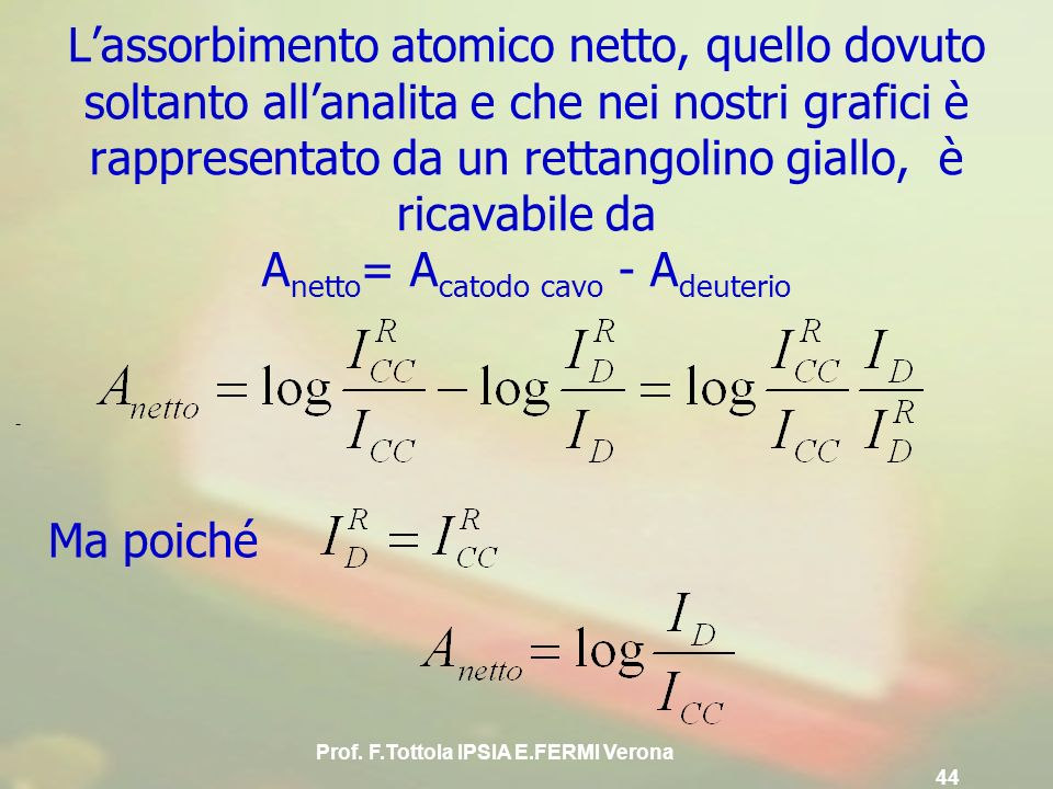 Prof. F.Tottola IPSIA E.FERMI Verona 44