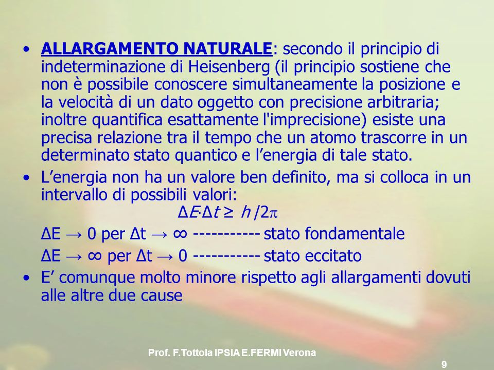 Prof. F.Tottola IPSIA E.FERMI Verona 9