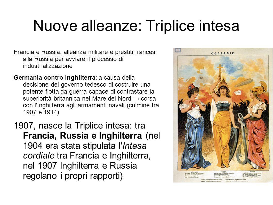 Nuove alleanze: Triplice intesa