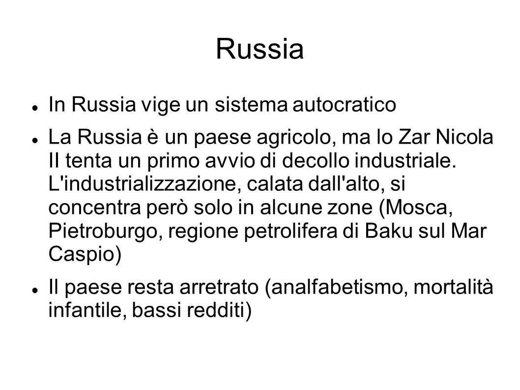 Russia In Russia vige un sistema autocratico