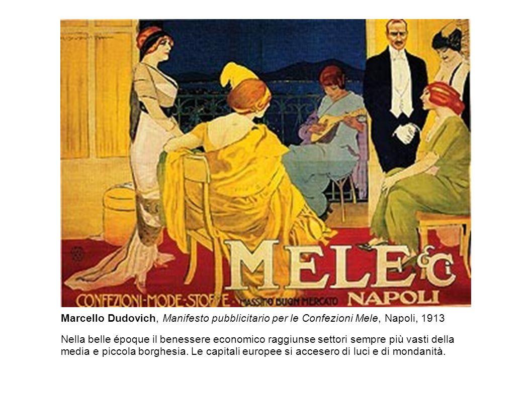 Marcello Dudovich, Manifesto pubblicitario per le Confezioni Mele, Napoli, 1913